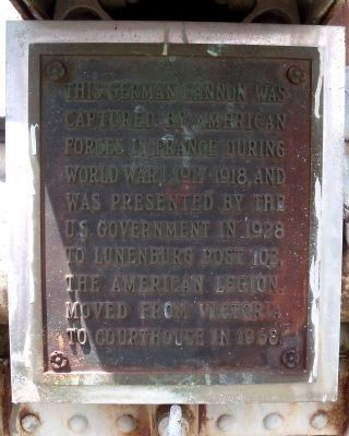 American Legion WWI Plaque. image. Click for full size.