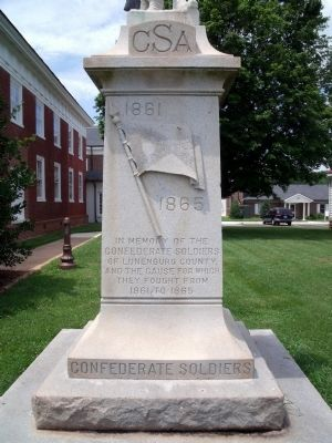 Lunenburg Confederate Soldiers Monument image. Click for full size.