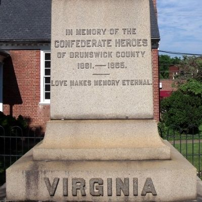 Brunswick County Confederate Monument. image, Touch for more information