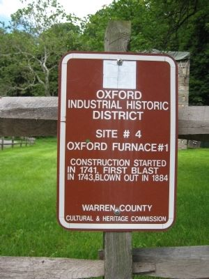 Oxford Furnace #1 Marker image. Click for full size.