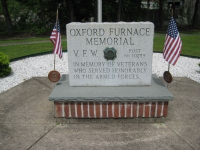Oxford Furnace Memorial image. Click for full size.