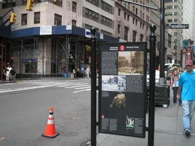 Marker in Downtown Manhattan image. Click for full size.