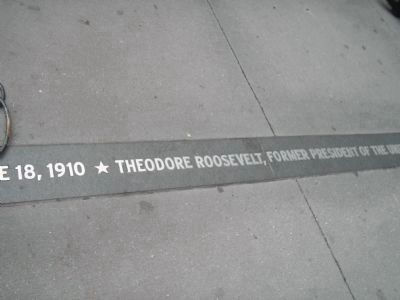 Teddy Roosevelt Commemorative Plaque image. Click for full size.