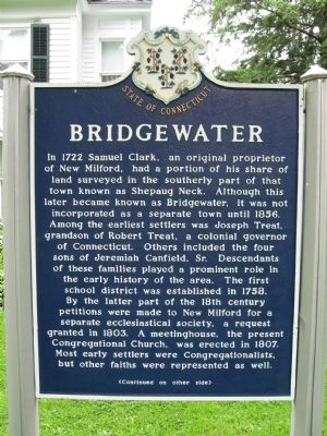 Bridgewater Marker (front) image. Click for full size.