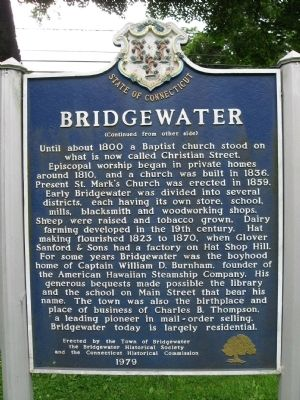 Bridgewater Marker (back) image. Click for full size.