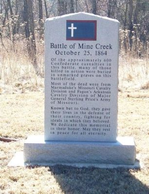 Battle of Mine Creek Marker image. Click for full size.