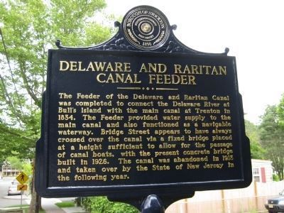 Delaware and Raritan Canal Feeder Marker image. Click for full size.