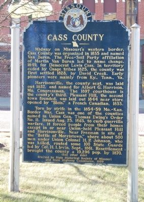 Cass County Marker image. Click for full size.