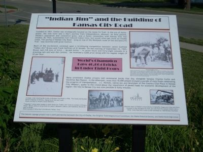 """Indian Jim"" and the Building of Kansas City Road Marker image. Click for full size."