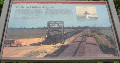 Rails to Dulles Airport Marker image. Click for full size.