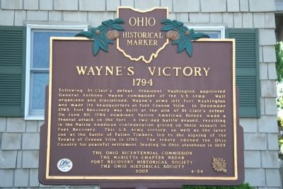 Wayne's Victory Marker image. Click for full size.
