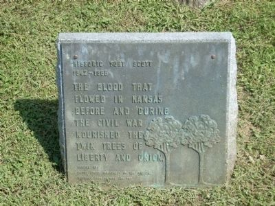 Historic Fort Scott Marker image. Click for full size.