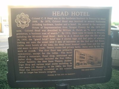 Head Hotel Marker image. Click for full size.