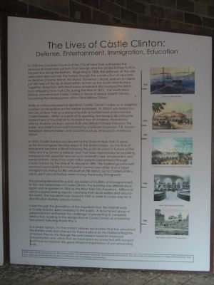 The Lives of Castle Clinton Marker image. Click for full size.
