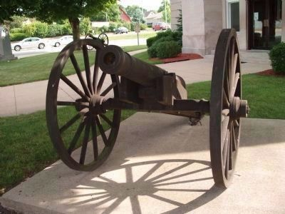 Front View - - Monroe Street Cannon image. Click for full size.