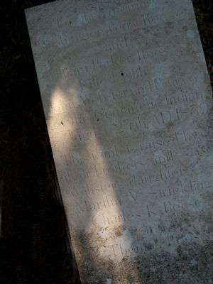 Lid of sarcophagus that serves as common grave. image. Click for full size.