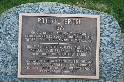 Roberts Bridge / Timber Covered Bridge Marker image. Click for full size.