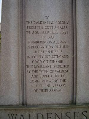 The Waldensian Colony Marker image. Click for full size.