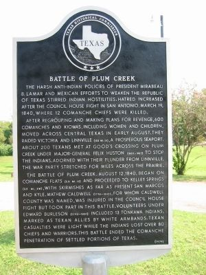 Battle of Plum Creek Marker image. Click for full size.