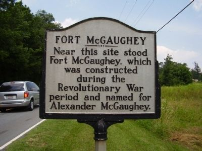 Fort McGaughey Marker image. Click for full size.