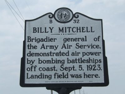 Billy Mitchell Marker image. Click for full size.
