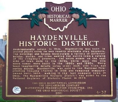 Haydenville Historic District Marker (Side B) image. Click for full size.