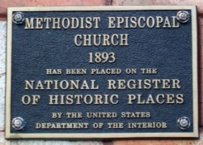 Haydenville United Methodist Church National Register Marker image. Click for full size.