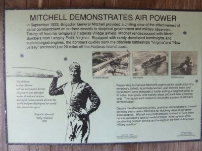 Mitchell Demonstrates Air Power Marker image. Click for full size.