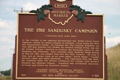 The 1782 Sandusky Campaign Marker image. Click for full size.