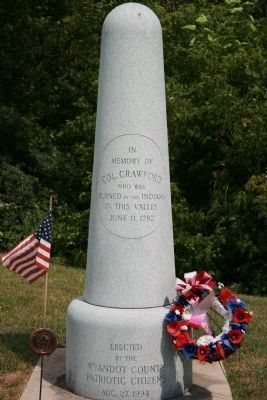 Colonel William Crawford Memorial image. Click for full size.