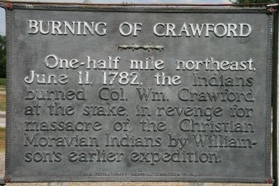 Burning of Crawford Marker image. Click for full size.