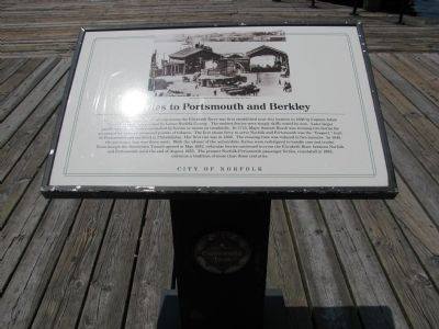 Ferries to Portsmouth and Berkley Marker image. Click for full size.