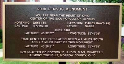 Nearby 2000 Census Monument image. Click for full size.