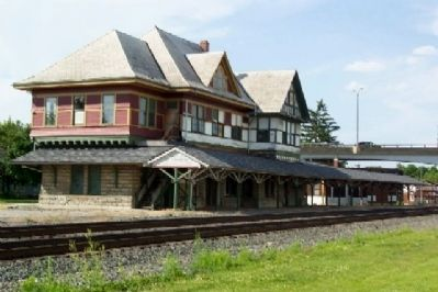 Big Four Depot (east facade - trackside) image. Click for full size.