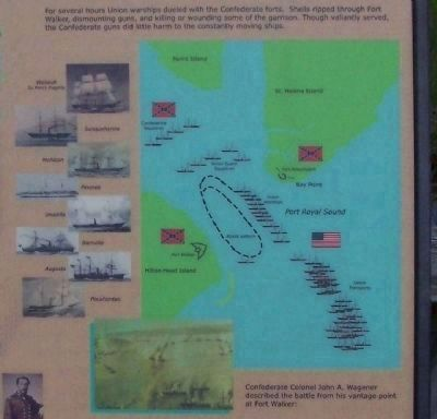 Battle of Port Royal , Union ships and the tactics employed, as mentioned image. Click for full size.