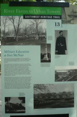 Military Education at Fort McNair Marker image. Click for full size.