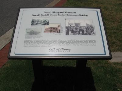 Naval Shipyard Museum Marker image. Click for full size.