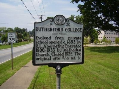 Rutherford College Marker image. Click for full size.