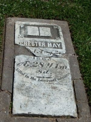Headstone of Chester Hay image. Click for full size.