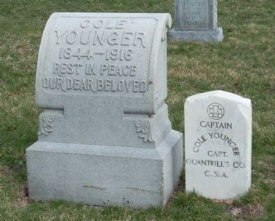 Headstone of Cole Younger image. Click for full size.