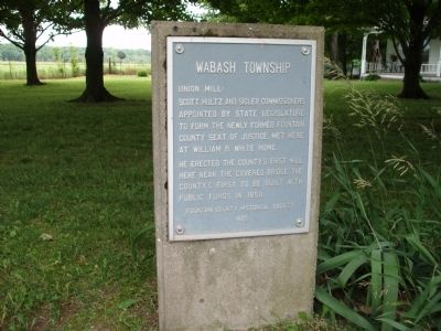 """ Union Mill "" - Wabash Township Marker image. Click for full size."