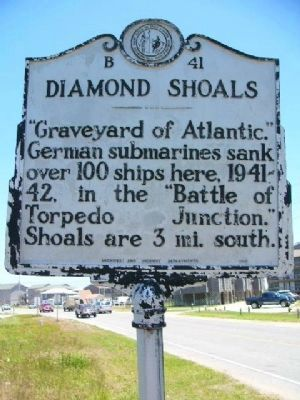 Diamond Shoals Marker image. Click for full size.