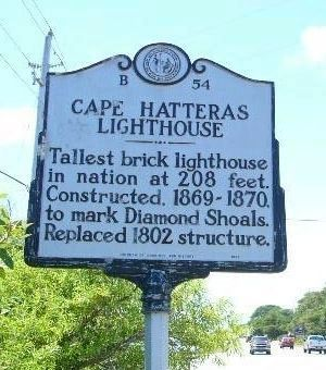 Cape Hatteras Lighthouse Marker image. Click for full size.