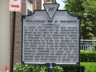 Revolutionary War at Portsmouth Marker image. Click for full size.
