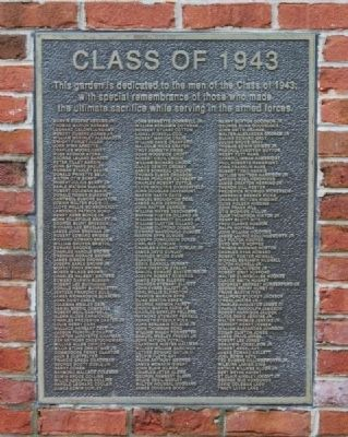 Class of 1943 Marker (A-L) image. Click for full size.