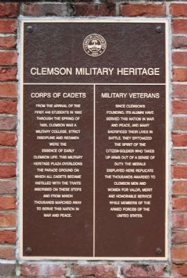 Military Heritage Plaza Marker image. Click for full size.