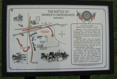 The Battle of Parker's Crossroads Marker image. Click for full size.