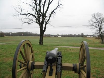 Confederate Artillery Field of Fire image. Click for full size.