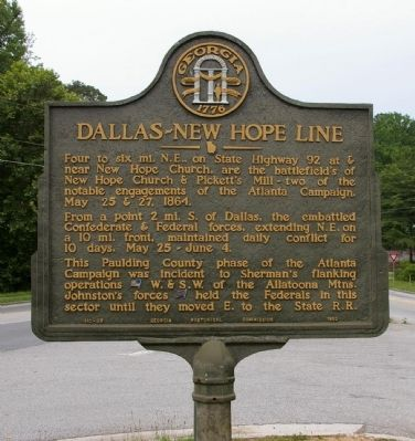 Dallas - New Hope Line Marker image. Click for full size.