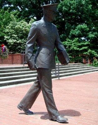Military Heritage Plaza -<br>Cadet Sculpture image. Click for full size.